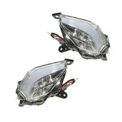 2 CLIGNOTANTS ARRIERE TRANSPARENT LEDS MAXISCOOTER YAMAHA 530 T-MAX 2012 -