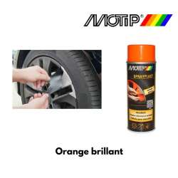 BOMBE PEINTURE MOTIP 396564 SPRAYPLAST ORANGE BRILLANT 400ML MOTO MAXI SCOOTER
