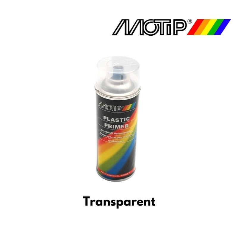 bombe peinture motip appret pro 04063 transparent pour plastique 400ml moto scooter. Black Bedroom Furniture Sets. Home Design Ideas